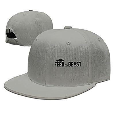 JUNJ Unisex-Adult Feed The Beast Snapback Hip Hop Caps Ash
