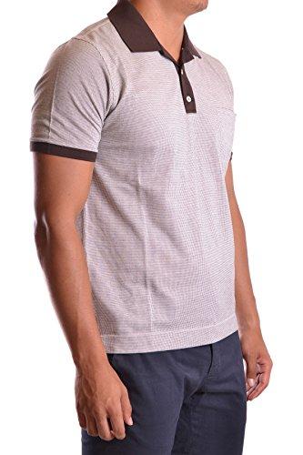 Ballantyne Herren MCBI032022O Weiss/Braun Baumwolle Poloshirt