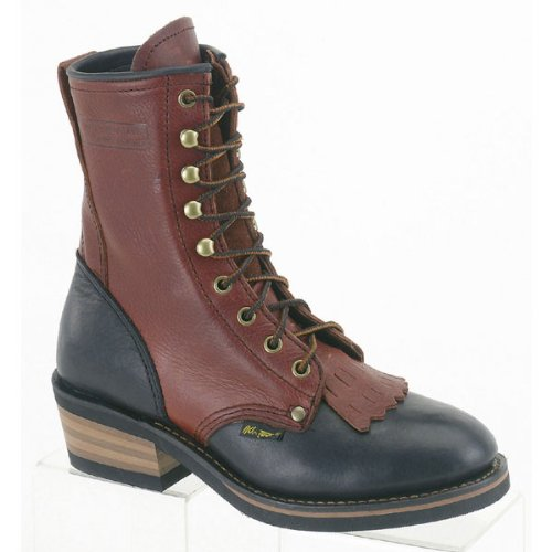 AdTec Womens 8in Western Packer Boots Tumble Two Tone Size 7 B(M) ()