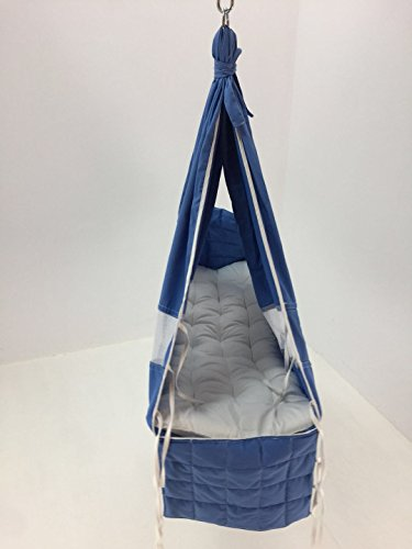 Debris time Baby Hammock Baby Cot Baby Swing Without Metal Frame(blue) by Debris time