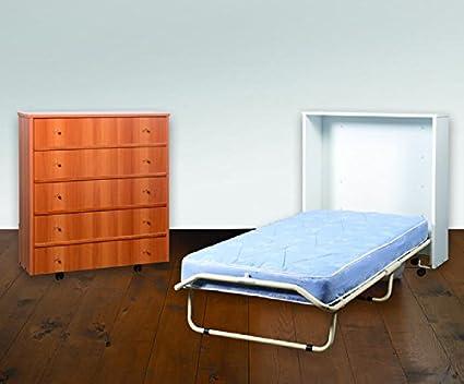 Mobile cama Totalmente sobre ruedas tinta Nogal L. cm.85 prof ...