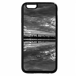 iPhone 6S Plus Case, iPhone 6 Plus Case (Black & White) - fantastic cityscape between water and sky