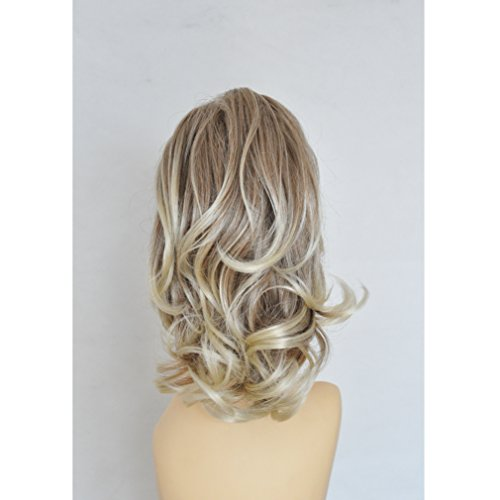 Loosely Curled Blonde Butterfly Clamp Hair Piece