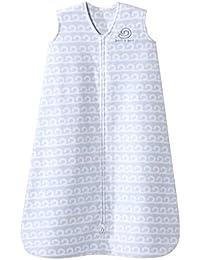 SleepSack Micro-Fleece Wearable Blanket, Grey Wave, Small