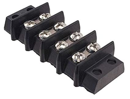 Cinch Connectors 4-142 Barrier Terminal Block 4 Position Double Row Open Pack of 2
