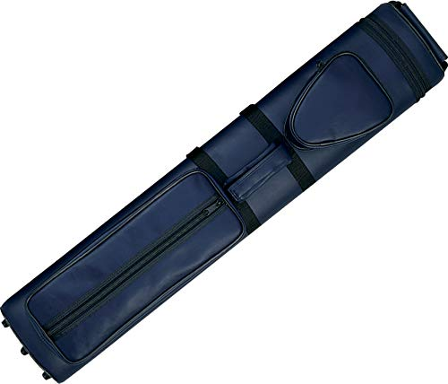 Action Brand AC35 3x5 Oval Hard Vinyl Pool/Billiard Cue Case - Navy Blue ()