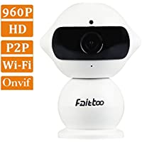 Wireless Security Camera, Faittoo 960P Wifi Camera Security Surveillance IP Camera Home Monitor with Sound Detection Email Alarm Two-Way Audio Night Vision Smartphone Remote View