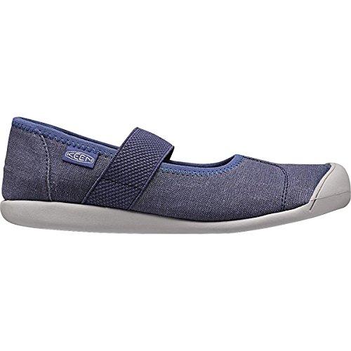 KEEN Women's Sienna MJ Canvas Hiking Shoe, Crown Blue, 7.5 M US