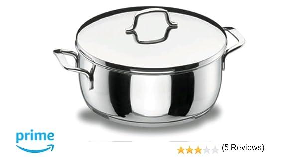 Lacor 90024 - Cacerola con tapa 24 cm Gourmet Acero Inoxidable 18/10: Amazon.es: Hogar
