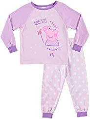 Jellifish Kids Peppa Pig Pajamas for Toddlers - 2-Piece Sleepwear - Girls PJ Set