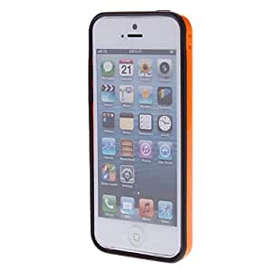 SHOUJIKE Double Colors TPU Soft Bumper Frame for iPhone 5C (Optional Colors) , Green