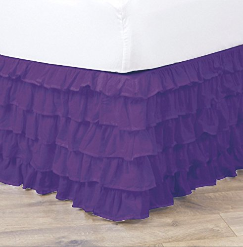 Empire Home Pleated Ruffled Bed Skirt Solid Dust - Twin Size Ruffled Bed Skirt