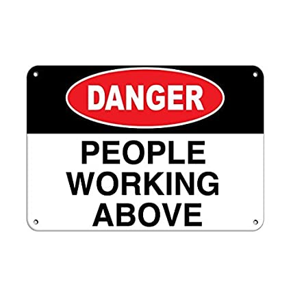 amazon com personalized metal signs for outdoors danger people