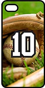 Baseball Sports Fan Player Number 10 Smoke Rubber Decorative iPhone 5/5s Case