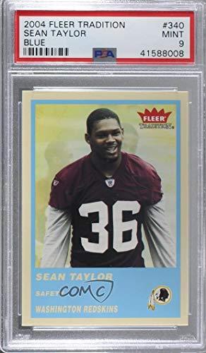 Sean Taylor Graded PSA 9 MINT (Football Card) 2004 Fleer Tradition - [Base] - Blue #340