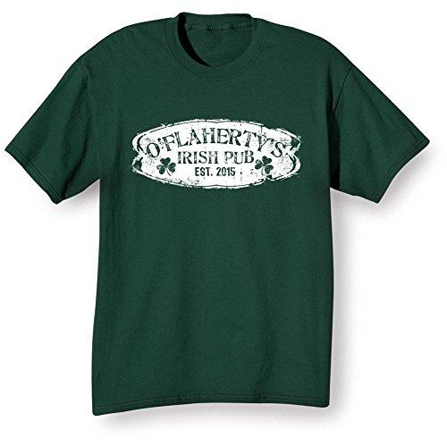 Personalized Irish Shirt Your Name & Date Pub T-Shirt - LG Green