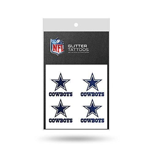 NFL Dallas Cowboys Glitter Tattoo, set of (Dallas Cowboy Tattoos)