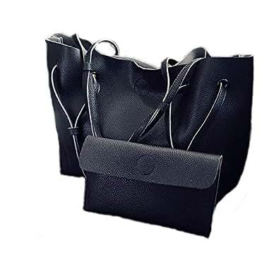 PERHAPS U Women Tote Purses Top Handle Satchel Handbags Soft PU Leather Large Capacity Shoulder Bag Size: XXXX-Large