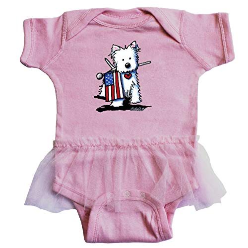 inktastic US Flag Westie Infant Tutu Bodysuit 12 Months Pink - KiniArt