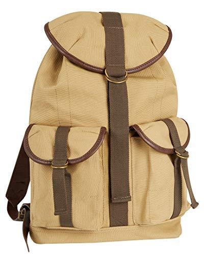 Tommy Bahama Canvas Messenger Bag - Satchel Shoulder Bag for Men Large Bookbag with Padded Laptop Pocket, Tan, One ()