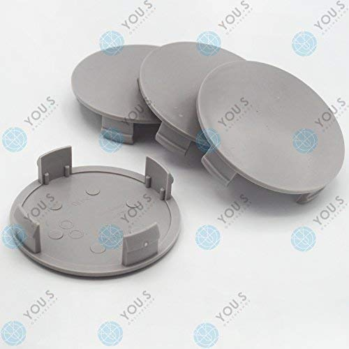 4 x YOU.S Nabenkappen Nabendeckel Felgendeckel 75,0-72,0 mm silber