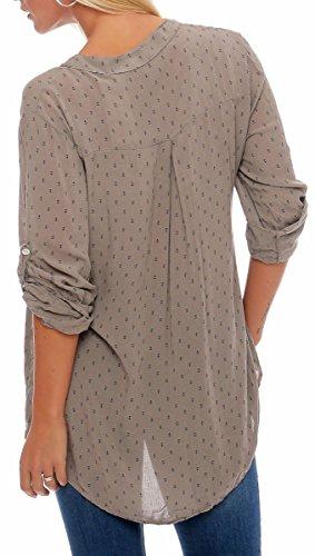 3 Haut Femme Blouse Print 9013 avec Tunique Malito 4 Oversize Ancre Taille Olive Unique Loose IqwFT0C0x