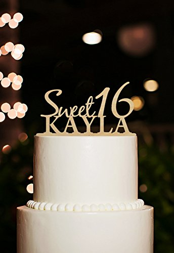 Image Unavailable Not Available For Color Happy Birthday Cake Topper Personalized Kids Name Sweet 16