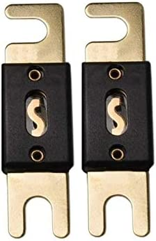 60 Amp ANL Fuse 60A 60 Amp For Car Vehicle Marine Audio Video System Gold 2 Pack