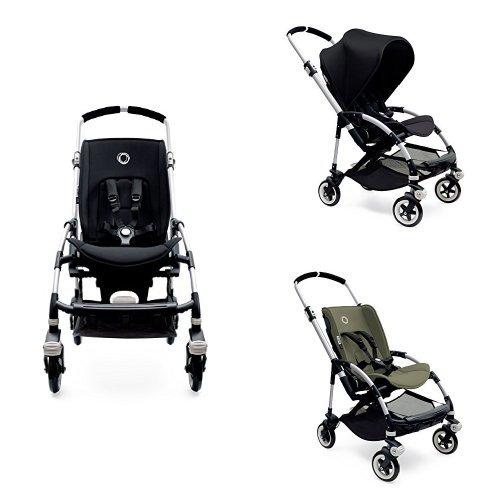 Bugaboo Bee3 Stroller - Black - Dark Khaki - Aluminum