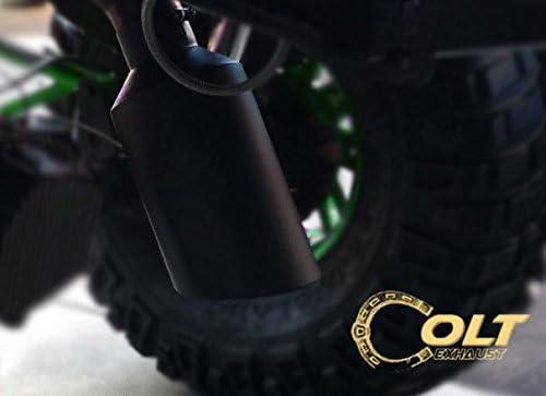 8 Outlet 15 Long Powder Coated Black Bolt On Diesel Exhaust Tip 5 Inlet
