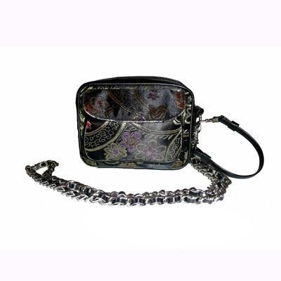 Black Brocade Camera Bag