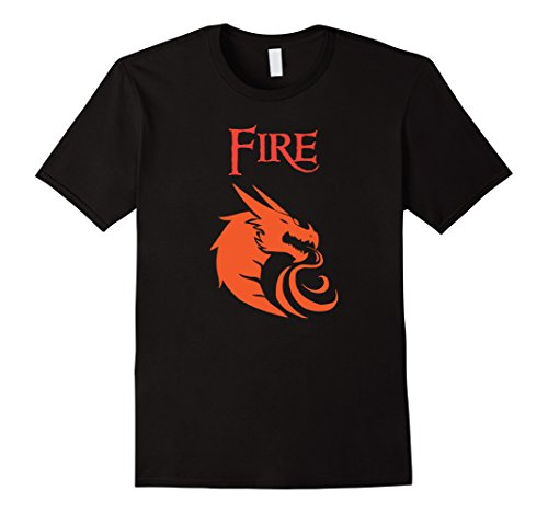 Costume Ice Fire And Couples (Mens Halloween Costume T-Shirts - Fire and Ice Dragons 3XL)