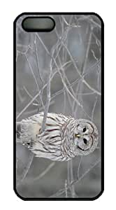 make covers Snow Owl Branch PC Black Case for iphone 5/5S