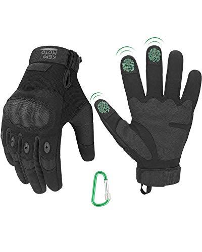 Tactische handschoenen, motorhandschoenen met klimgesp, 3-vinger touchscreen, ademende handschoenen met volledige vinger…