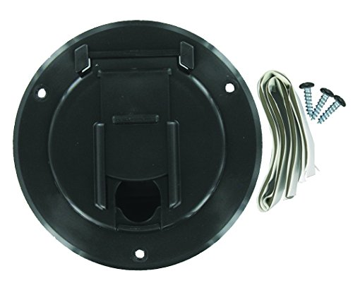 Valterra A10-2140BKVP Black Small Round Electric Cable (Small Hatch)
