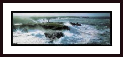 - Coup de Vent sur les Poulains, framed black wood, white matte