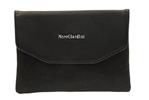 NERO GIARDINI Mujer con el bolso de embrague P743130D hombro correa de metal / 100 Nero