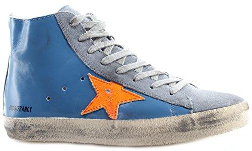 GOLDEN GOOSE Zapatos Hombres Sneakers Francy G28MS591E35 Sky Orange Fluo Star It