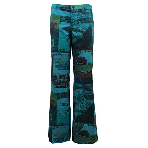 Pant Trouser Verde Barcelona Custo Green Donna Woman Pantalone 8419u qwRX77