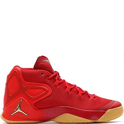 Jordan Nike Men's Melo M12 Red/Yellow/Metalic Gold Star 827176-696 (Size: 12)
