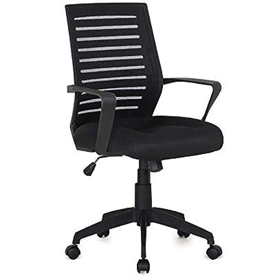 VECELO Premium Mesh Chair for Task / Desk / Home Office Work - Black