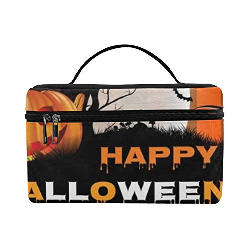 Halloween Pumpkin Moon Design On Lunch Box Tote Bag Lunch Holder Insulated Lunch Cooler Bag For Women/men/picnic/boating/beach/fishing/school/work]()