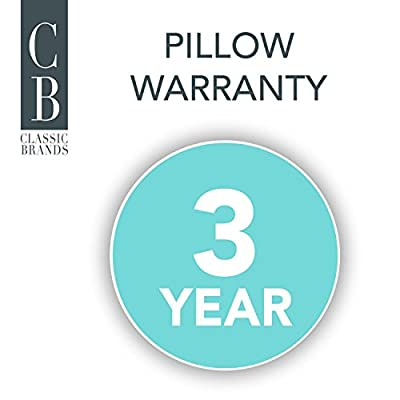 Classic Brands Cool Sleep Ventilated Gel Memory Foam Gusseted Pillow