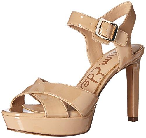 Sam Edelman Women's Jordan Heeled Sandal, Nude Patent, 6.5 Medium US by Sam Edelman