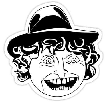 Lancy's Artwork Tom Baker Black & White Portrait - 4x4 - Doctor Who Dr Who Sticker