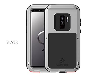 love Mei Samsung Galaxy S9 Plus Funda, marca Armor Tank aluminum silicone metal híbrido Carcasa,Cover, Funda para Samsung Galaxy S9 Plus(6.2