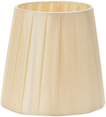 DULEE 6 inch E14 Screw Lampshades For Candle Crystal Chandelier Wall Lamp Droplight Small Lamp Shades, 14cm x Height Top 11cm x 15cm,White Bottom