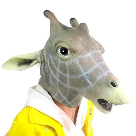 BestOfferBuy Realista Máscara de Jirafa Cubre-Cabeza Diferente Látex Fiestas de Disfraces Cosplay: Amazon.es: Juguetes y juegos