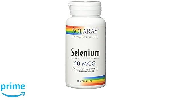 Solaray Selenium 50 Mg. 100 Cápsulas: Amazon.es: Salud y cuidado personal