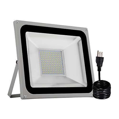 CHUNNUAN LED Flood Light,100W,10000LUMEN,6000-6500K Cold White, Waterproof, IP65, Instant On, CE and ROHS Certified,US 3-Plug Outdoor Security Lights Super Bright Floodlight [並行輸入品] B07R8WC6WG